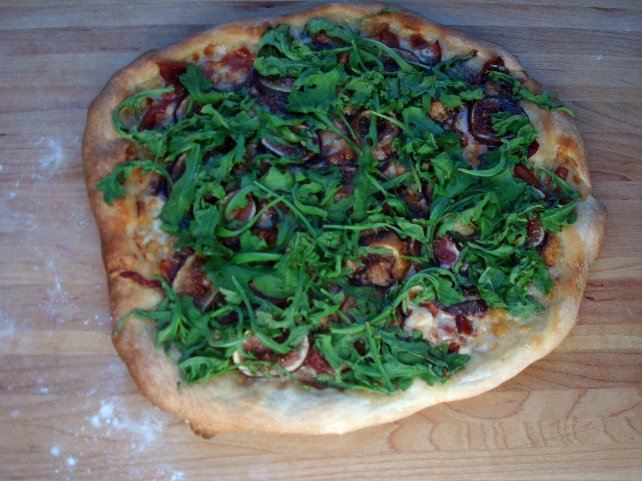 ... pizza with fontina and arugula grilled pizza with figs prosciutto