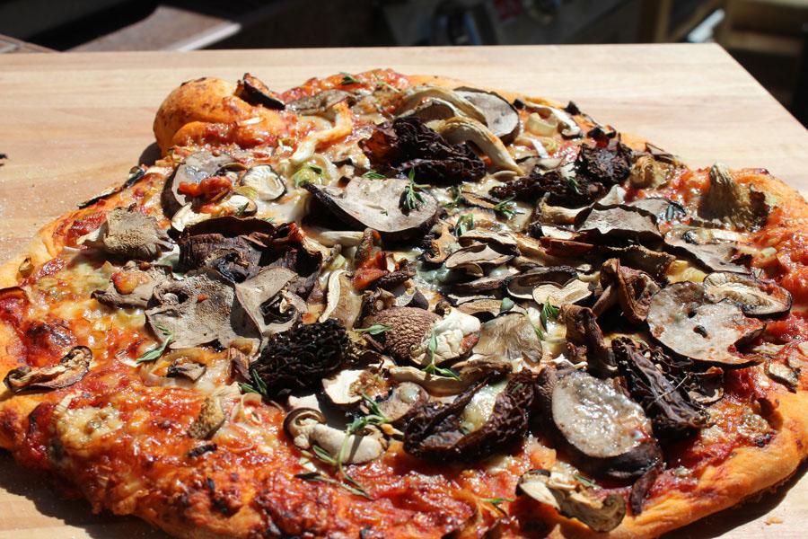 Mixed Mushroom & Leek Pizza Recipe — Dishmaps