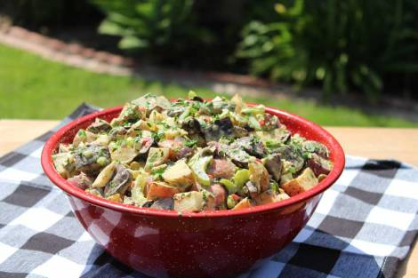 RGrill-Roasted Tri-Colored Potato Salad
