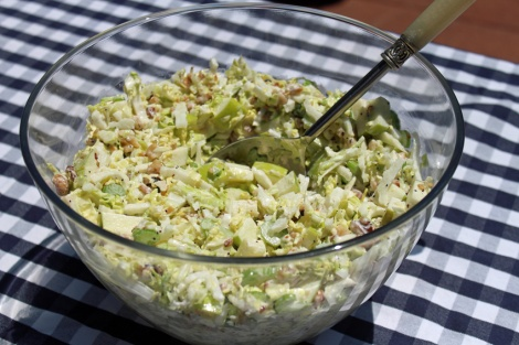 Waldorf Slaw with Apples, Walnuts and Celery