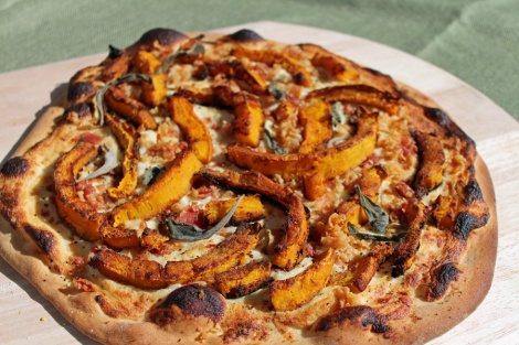 Pumpkin and Pancetta Pizza