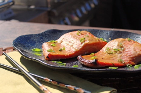 Miso Marinated Cedar Planked Salmon