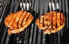 pork-loin-chops-sauced on grill