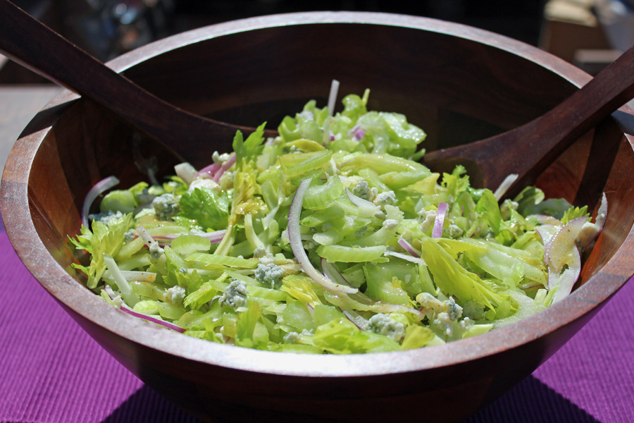 Celery and Blue Cheese Salad with Lemon Vinaigrette | Grilling ...