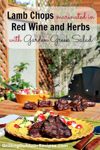 lamb chops w greek salad - tall