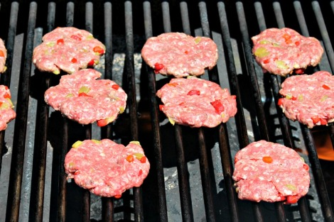 SxSW Sliders on the grill