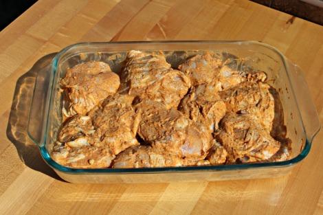 chicken in tandoori marinade