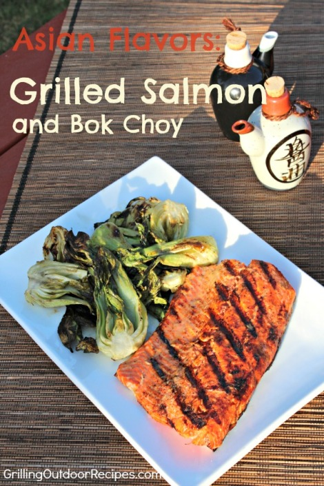 salmon with grilled bok choy - vert GOR