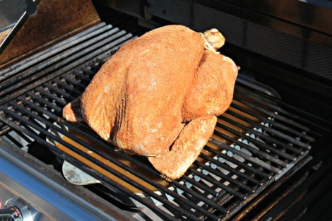 Ancho Sage Turkey on the grill
