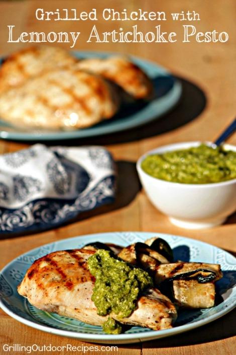 chicken with artichoke pesto - vert