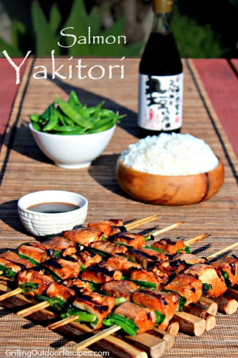 Salmon Yakitori - vert