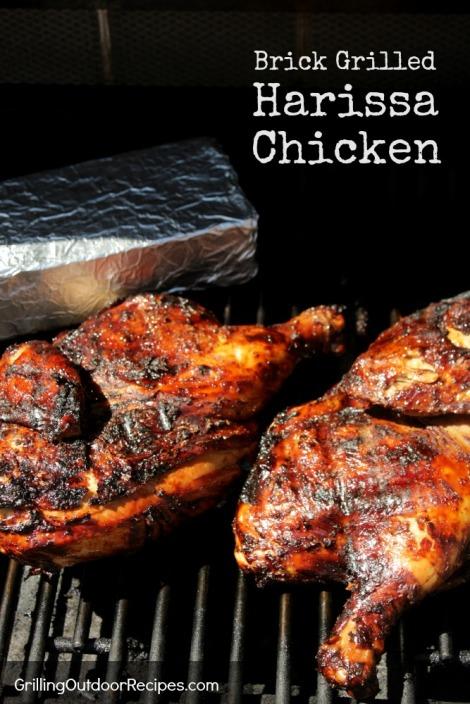 Brick Grilled Harissa Chicken - pin