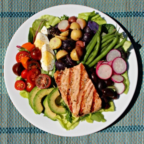 Grilled Salmon Salade Nicoise - 640 sq