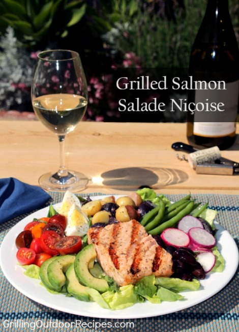 Grilled Salmon Salade Nicoise - pin