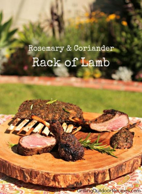 Rosemary-Coriander Rack of Lamb - vert