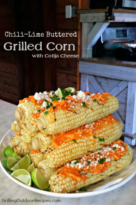 Chili lime buttered corn w Cotija