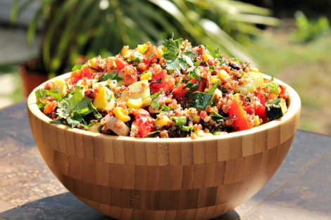 red quinoa salad - horz
