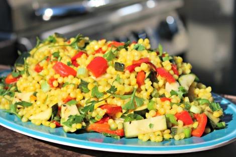 Saffron Pearl Couscous salad -horz