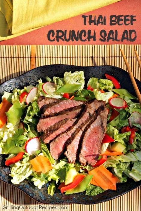 thai beef salad - vert