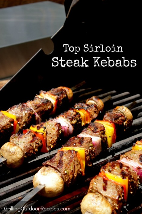 top sirloin steak kebabs - pin
