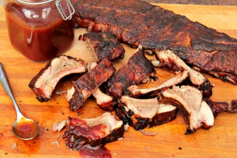 Smoked BBQ Ribs - horz