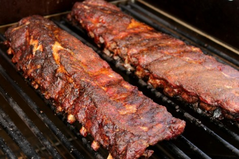 Smoked BBQ Ribs on the grill