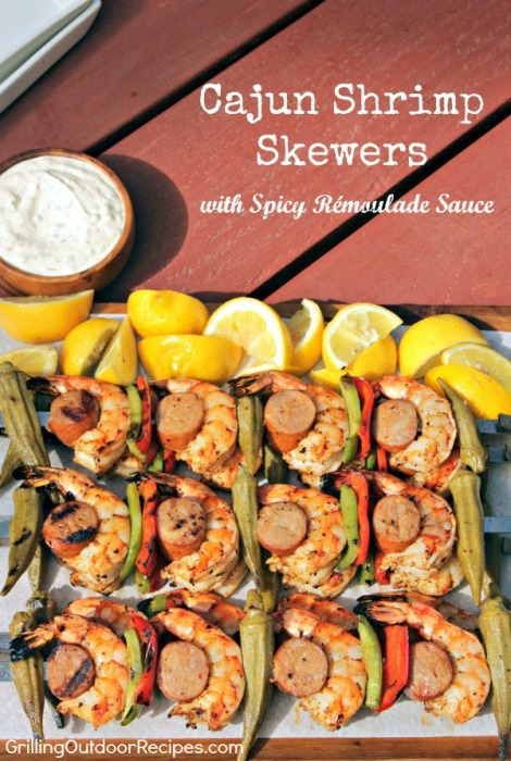 Cajun Shrimp Skewers - pin