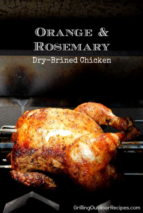 orange rosemary dry brined chicken vert