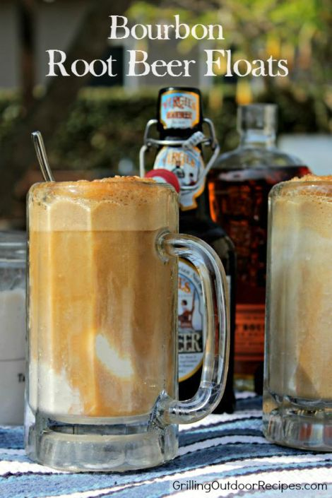Bourbon Root Beer Floats - vert