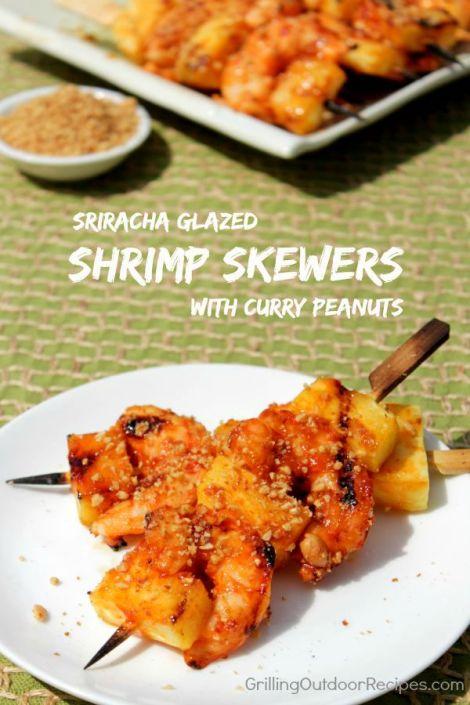 shrimp-pineapple skewers - vert