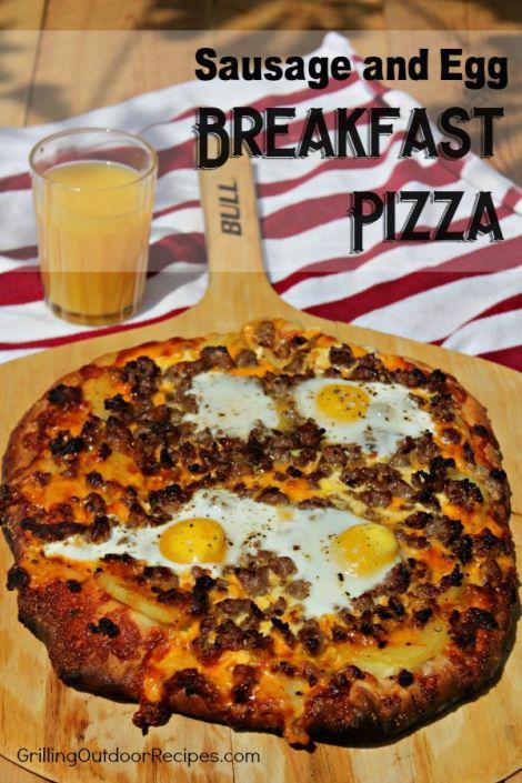 Breakfast pizza - vert