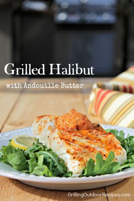 Halibut with Andouille Butter - vert