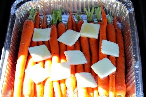honey bourbon carrots ready to grill