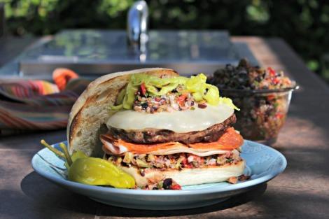 muffaletta burger - horz