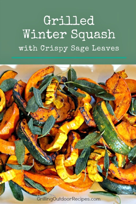 grilled squash with sage - vert