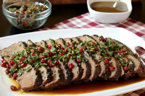 pomegranate glazed brisket - horz