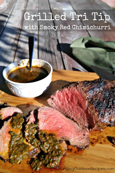 tritip with chimichurri vert
