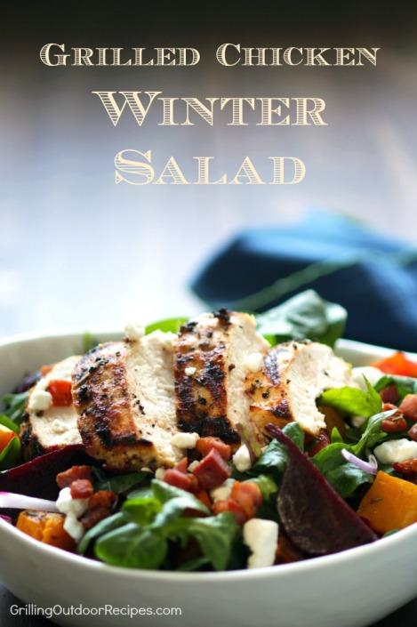 Grilled Chicken Winter Salad - vert