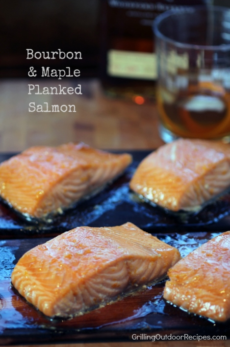 Bourbon Maple Planked Salmon - vert